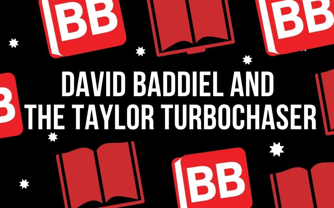 David Baddiel and His Most Recent Book, The Taylor Turbochaser